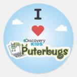 I Love Puterbugs Classic Round Sticker