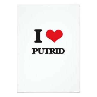I Love Putrid 5x7 Paper Invitation Card