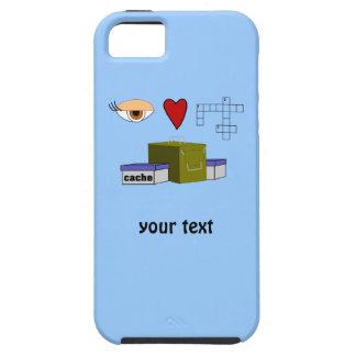 I Love Puzzle Caches Geocaching Custom iphone 5 iPhone SE/5/5s Case
