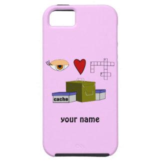 I Love Puzzle Caches Geocaching Custom iphone Case