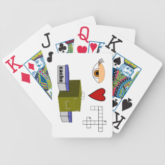 I Love Puzzle Caches Rebus Geocaching Lover Custom Bicycle Playing Cards