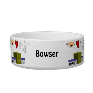 I Love Puzzle Caches Rebus Geocaching Lover Custom Bowl