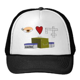 I Love Puzzle Caches Rebus Geocaching Lover Custom Trucker Hat