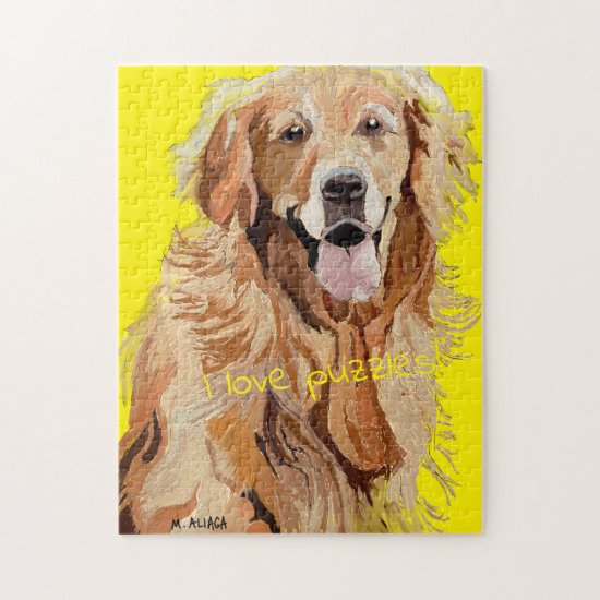 I Love Puzzles, Beautiful Dogs and Fun Jigsaw Puzzle