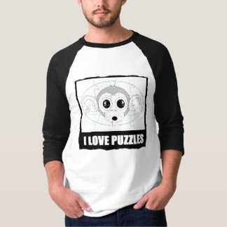 I LOVE PUZZLES  (MONKEY LOOK) T-Shirt
