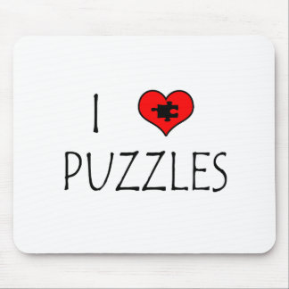 I Love Puzzles Mouse Pad