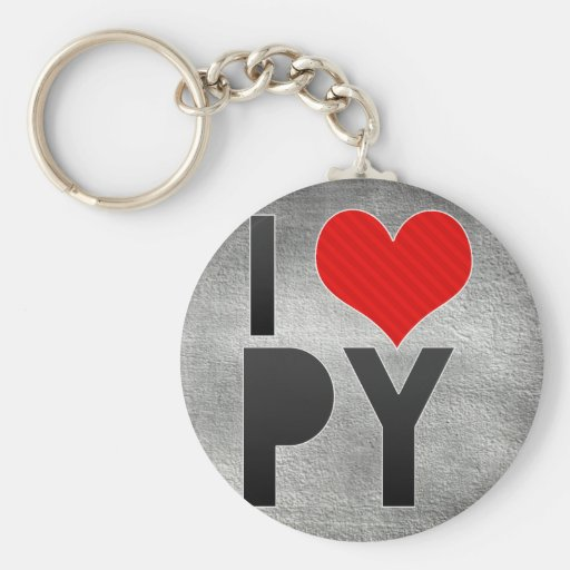 I Love PY Key Chain