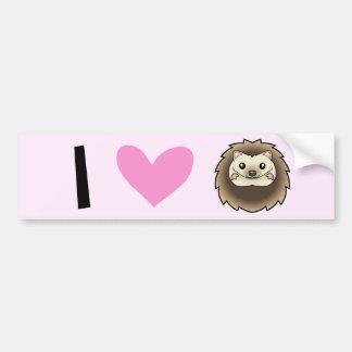 I Love Pygmy Hedgehogs Car Bumper Sticker