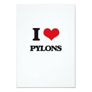 "I Love Pylons 3.5"" X 5"" Invitation Card"