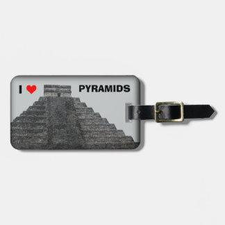 I Love Pyramids Bag Tag