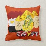 I LOVE Pyramids Throw Pillow