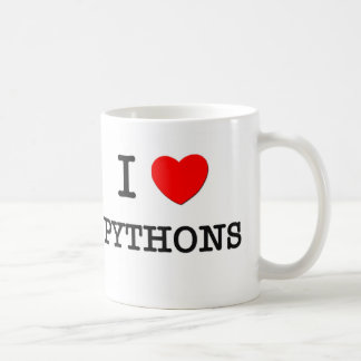 I Love PYTHONS Classic White Coffee Mug