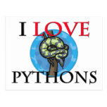 I Love Pythons Postcards