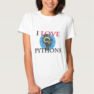 I Love Pythons T-shirts