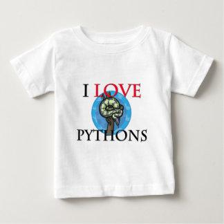 I Love Pythons Tshirts