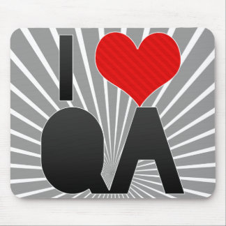 I Love QA Mouse Pad