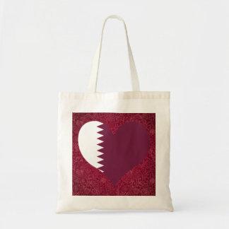 I Love Qatar Budget Tote Bag