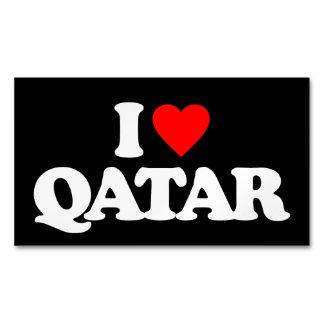 I LOVE QATAR BUSINESS CARD MAGNET