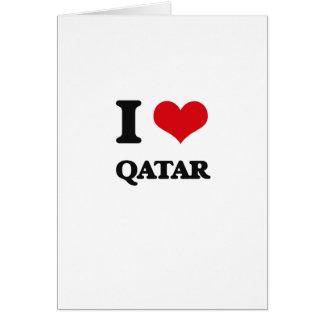 I Love Qatar Greeting Cards