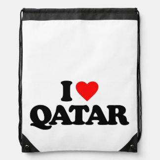 I LOVE QATAR CINCH BAG