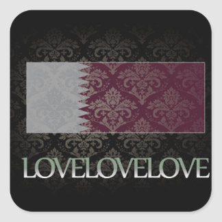 I love Qatar Cool Square Stickers