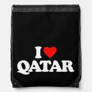 I LOVE QATAR DRAWSTRING BACKPACK