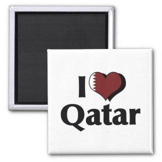 I Love Qatar Flag Fridge Magnet