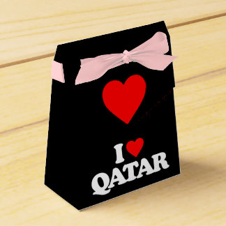 I LOVE QATAR FAVOR BOXES