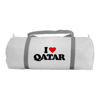 I LOVE QATAR GYM DUFFLE BAG