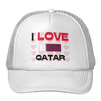 I Love Qatar Trucker Hat