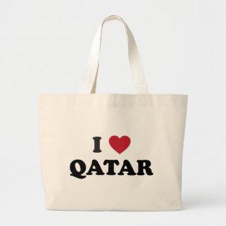 I Love Qatar Jumbo Tote Bag