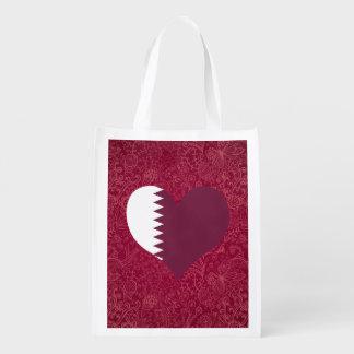 I Love Qatar Reusable Grocery Bags