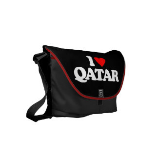 I LOVE QATAR SMALL MESSENGER BAG