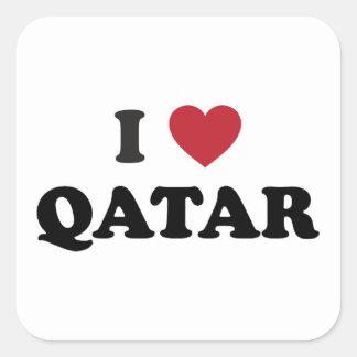 I Love Qatar Square Stickers
