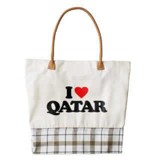 I LOVE QATAR ZAZZLE HEART TOTE BAG