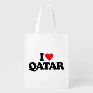I LOVE QATAR GROCERY BAG