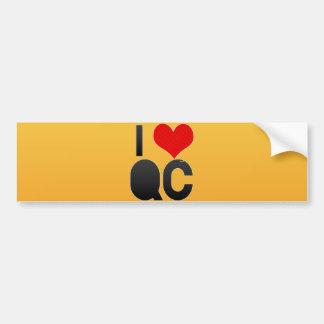 I Love QC Bumper Sticker