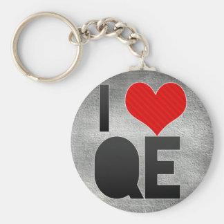 I Love QE Basic Round Button Keychain