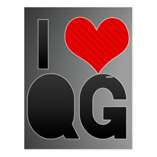 I Love QG Postcard