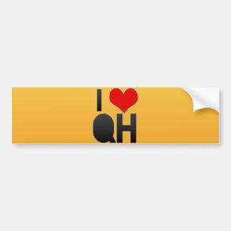 I Love QH Bumper Sticker