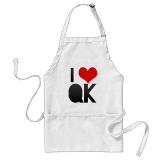 I Love QK Adult Apron