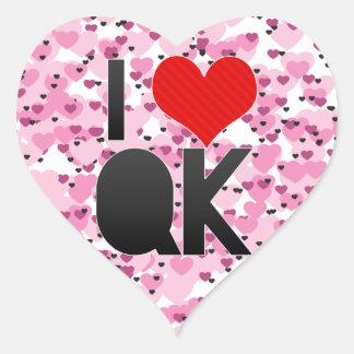 I Love QK Heart Sticker