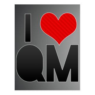 I Love QM Postcard