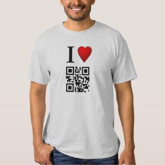 I Love QR Code T-Shirt Template