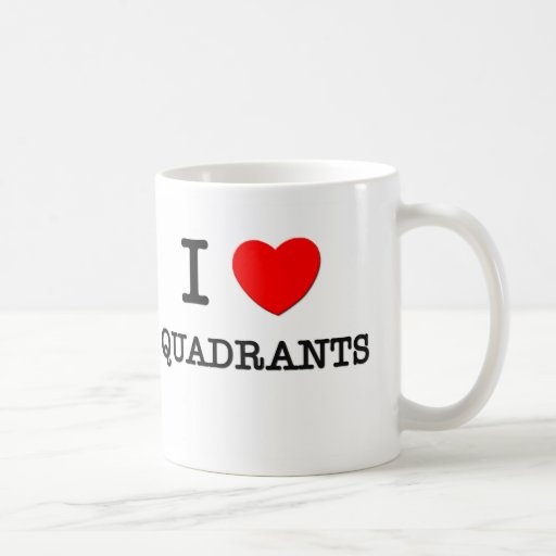 I Love Quadrants Coffee Mugs