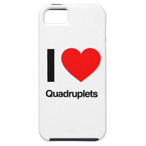 i love quadruplets iPhone 5 cover