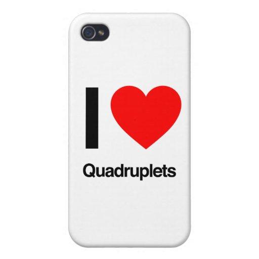 i love quadruplets iPhone 4 case