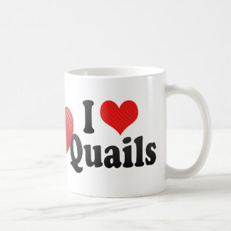 I Love Quails Coffee Mug