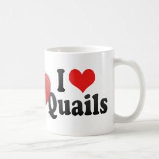I Love Quails Classic White Coffee Mug