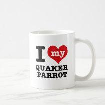 I Love quaker parrot Coffee Mug